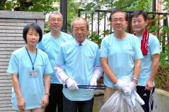マイキャンパスプロジェクトでの構内清掃