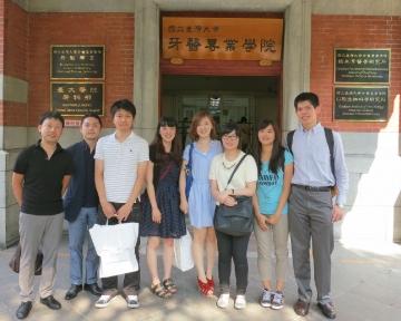 試験会場となった国立台湾大学にて