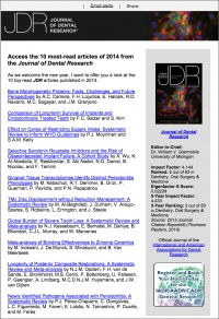 Access the 10 most-read articles of 2014 from the Journal of Dental Research