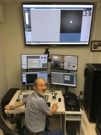 Prof Fujiyoshi in EM room