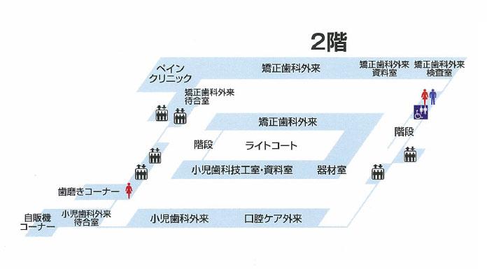 東京医科歯科大学歯学部附属病院 フロアマップ:2階